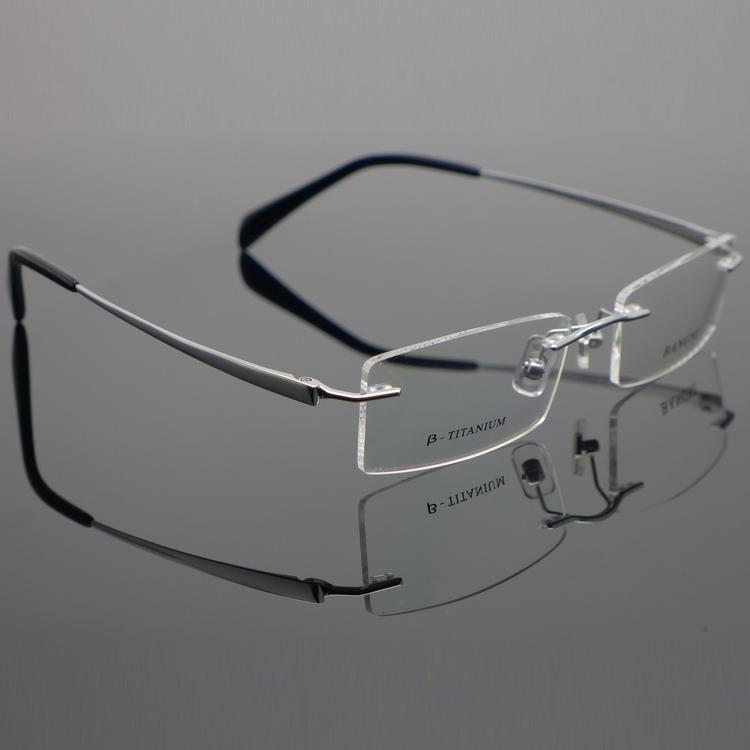 Ultra-light Titanium Rimless Eyewear Glasses Optical Frame Myopia Prescription Lens 1090 Men Free Shipping(China (Mainland))