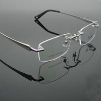 Bonnie titanium spectacle frames rimless eye frame fashion Men optical myopia eye glasses frame 1024 free shipping new arrival