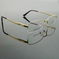 Quality fashion titanium ultra-light business men's eyeglasses optical frame of myopia eyes box 8877