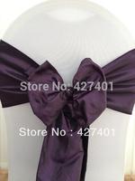 Hot Sale Plum Taffeta Chair Sash For Wedding Event & Party Decoration