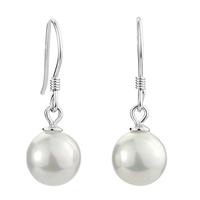 Factory direct / Free shipping hotsale  pearl earrings 925 sterling silver