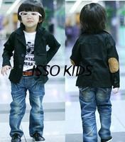 SKZ-290,ISSO KIDS 8 pcs/lot 2013 New Style Children coat Cool boys black jacket Spring & Autumn child outerwear Wholesale