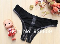 Free shiping Sexy Open Crotch  Women Underpants Briefs sexy underwear Small Butterfly Comfortable