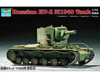 Trumpeter  07235 1/72  Russian KV-2 Tank plastic model kit