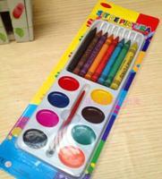 Cartoon crayon multicolour crayon child doodle pen yiwu commodity stationery
