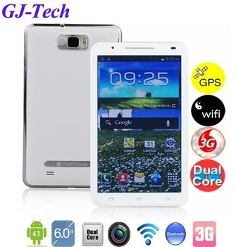 Free shipping Unlocked galaxy note2 6.0inch google android smart phone 3G call tablet MTK6577 dual core N9776 mobile cell phone