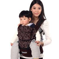 Leather infant children backpack baby hold with double-shoulder suspenders stool bags
