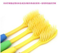 Free shipping wholesale 4Pcs soft  Colorful Nano Dental Care Premium Toothbrush Set  health adult toothbrush high quality