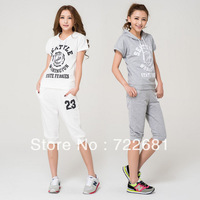 Women Sport suit Casual clothes 2pcs set 2013 New arrival   Tracksuit Ladies Costume Sports Suits Hoodies Set Sportswear