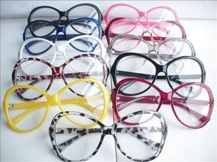 Non-mainstream big frame glasses vintage plain mirror leopard print glasses multi color plain glass spectacles eyeglasses frame