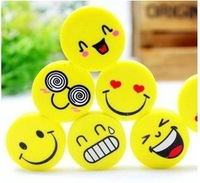 Pencil Use Cute cartoon smile style rubber Kids gift creative stationery promotional eraser 120PCS/lot  free shipping