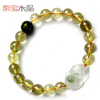 Crystal natural titanium crystal brazil pi xiu bracelet female Men lucky