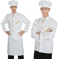 Spring and autumn long-sleeve work wear work wear long-sleeve cook suit male cook clothes
