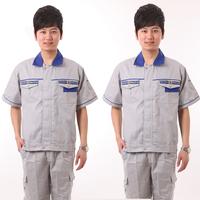 Engineering uniform short-sleeve protective clothing work wear male set car uniform work clothes