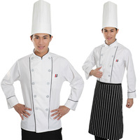 Work wear cook clothes quality cook suit long-sleeve chefs uniform cake