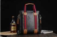 Free shipping classical men briefcase, fashion business bag men, with genuine COW leather bag, excellent quality.C196