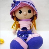 new style cute girl  birthday Christmas gifts  Cloth doll fabric  wool doll  length 45cm  stuffed dolls toys
