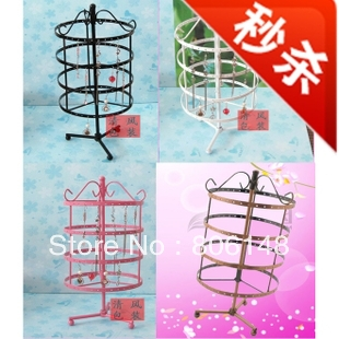 Wholesale 11*11*23cm Metal jewelry display frame,Free shipping metal jewelry necklace ring earrings display show shelf JB-HJ008(China (Mainland))