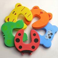 10pcs/lot Children Cartoon Baby Safety Door Card/Door Stopper/Door Card