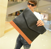 Hot-selling the trend of fashion man bag envelope bag fashion day clutch vintage casual bag paper bag briefcase