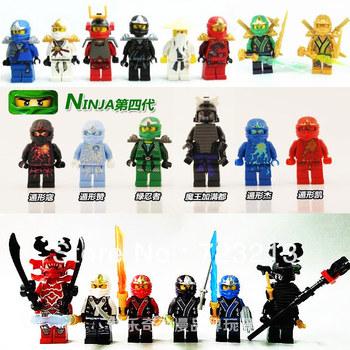 Decool Ninjago With Weapons 20pcs/lot Building Blocks Sets Ninja Minifigure DIY Bricks Toys Children Without Orignial Box
