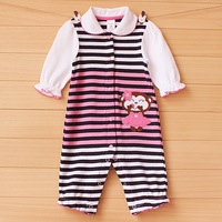 Carters male female summer child clothes infant one piece 100% long-sleeve cotton clothes baby clothes and climb romper