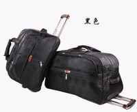 Promotion free shipping durable Large capacity 62cm trolley bag luggage travel bag durable waterproof trolley travel bag 24 P5