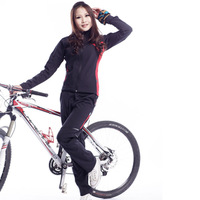 2014 new sale ciclismo cycling clothing acacia women long-sleeve ride service set male autumn and clothes outdoor mountain bike