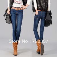9003B 2013 winter New Fashion Sexy Womens Casual Slim Light Blue Skinny Vintage Denim Jeans For Women