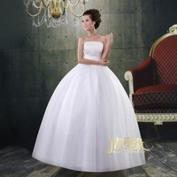 Wedding dress slim waist bride wedding beaded tube top white wedding dress