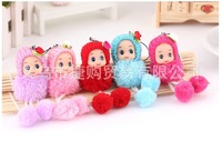 Special cute 8cm sweet ball girl bag pendant mobile phone accessories doll toy wedding activities award gift wholesale 50 pcs