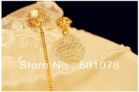 Simulation mix lot wholesale Accessories hot-selling crystal earring asymmetrical