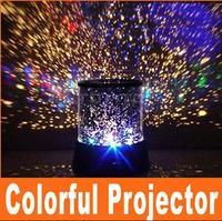 Amazing Flashing Colorful LED Star Master Star Sky light Star Projector Lamp Night light Lamp free shipping