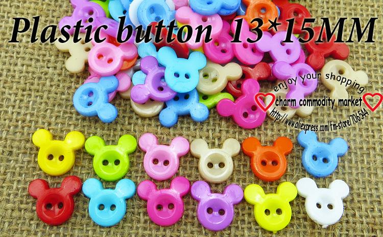 200PCS mickey rosto DSigns botão crianças roupas de plástico para costura de jóias fiting P -108(China (Mainland))