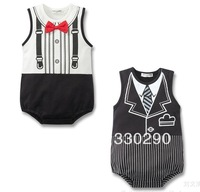 FREE SHIPPING! Black and White,2013 Baby Fashion Show! 3 Pieces/Lot=19.99$! Baby Gentleman's Suit.
