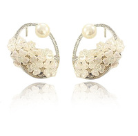 Okba flower cutout circle stud earring 925 silver stud earring earrings