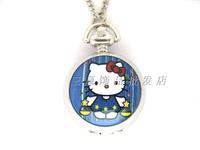 Kt series enamel white steel pocket watch necklace pocket watch rahb777