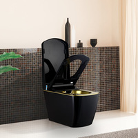 Vogo intelligent toilet zuopianqi fully-automatic toilet auto flip black gold s370