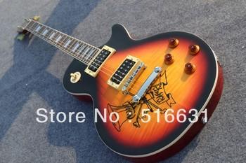 wholesale very nice Slash Signature yellow classic black edge electric guitar