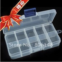 10 transparent plastic jewelry storage box,New convenient plastic Jewelry display & packaging box 13.2*6.8*2.3cm Free shipping