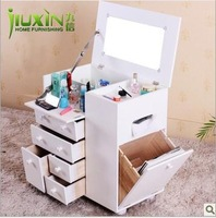 mirror vanity table set dressers for bedroom Multifunctional solid wood vanity dressing table dressing cabinet for Wholesale