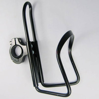Cycling Bike Bicycle Black Aluminum Alloy Handlebar Water Bottle Holder Cages