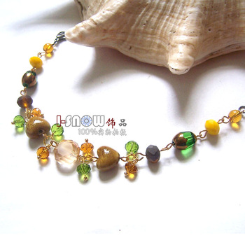 Small accessories bracelet love vintage ceramic crystal fashion jewelry girls accessories gift