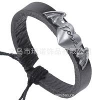 Wings of Love alloy cowhide bracelet leather bracelet