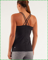 Free Shipping 2014 new arrival Lululemon Power Y Tank Hot sale Lululemon Clothing Cheap Lululemon girl vest Black