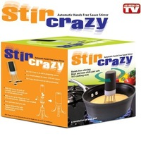 Wholesale Free shipping 1pcs Automatic Hands Free Sauce Stirrer Stir Crazy Stirs As Seen On TV
