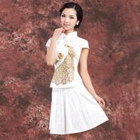 Jinkongque classical fashion chinese style cheongsam improved bust skirt set cheongsam dress summer cheongsam formal dress