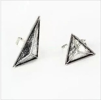 New Free Shipping Fashion Jewelry Asymmetric Two Triangle Ring 6pairs/lot