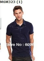 Free shipping 2013 New Fashion Men's polo shirts,2013 New Style polo shirts For Men,Men's short sleeve golf shirts,100% Cotton