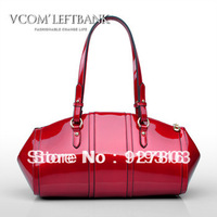 Left bank women's japanned leather handbag 2013 spring fashion women's handbag